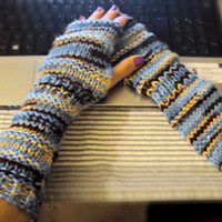 Knit Arm Warmers Knit Fingerless Gloves Mittens Men Women Fall Winter Fashion Accessories Gift Ideas Under 30 Can be MADE TO ORDER