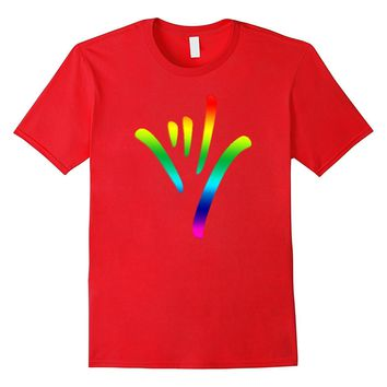 Rainbow I Love You Sign Language deaf culture T shirt Pride