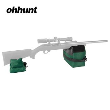 Tactical ohhunt Front and Rear Shooting Rest Bag Set Portable 600D Oxford Hunting Accessories Black Army Green Camouflage