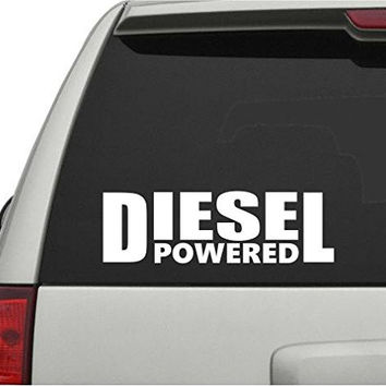 Diesel Powered Car Truck Window Windshield Lettering Decal