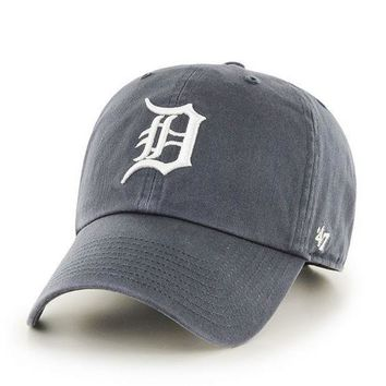 ESBON MLB Detroit Tigers Vintage Navy Adjustable Clean Up Hat