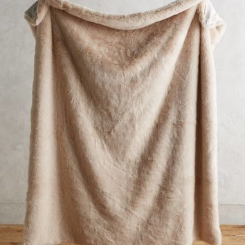 Fireside Faux-Fur Throw