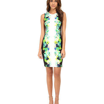 Calvin Klein Sheath Dress w/ Floral Print
