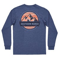 Branding Collection - Summit Long Sleeve Tee in Washed Navy by Southern Marsh