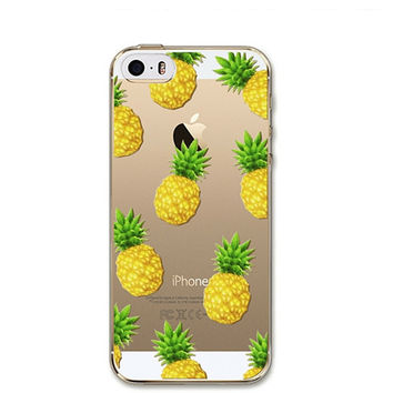 Juicy Pineapple Clear Soft Thin Case For Apple iPhone 5, 6, 6 Plus