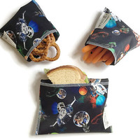 Kids Reusable Snack Bags, Ecofriendly Snack Bags, set of 3 reusable snack bags