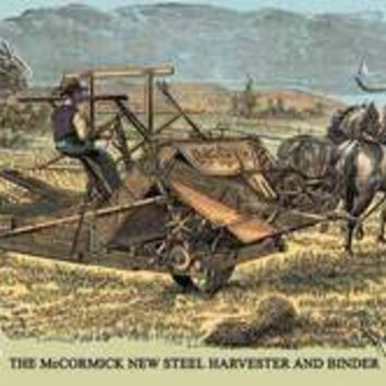 McCormick New Steel Harvester and Binder, The