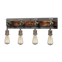 Jonas 4-Light Vanity Lamp in Multi-Tone Weathered with Faucet Motif