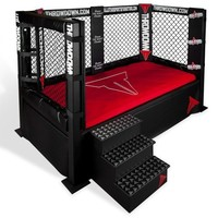 Throwdown MMA Cage Bed Sports Themed Furniture by Allstarsports