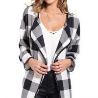 Picnic cardi in black white check | SHOWPO Fashion Online Shopping