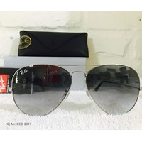 Cheap New Ray Ban Aviator Silver Frame Gray Gradient Lens RB3025 003/32 62mm outlet