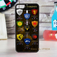Game of Thrones fashion case for iphone 4 4s 5 5s SE 5c for 6 & 6 plus 6S & 6S plus 7 7 plus