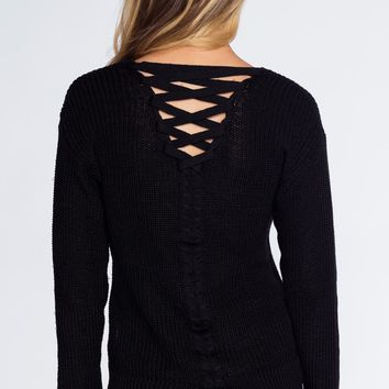 Campfire Cutie Sweater - Black