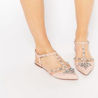 ASOS LOTUS Embellished Pointed Ballet Flats
