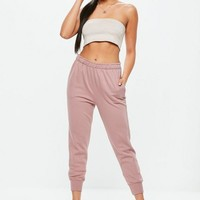 Missguided - Pink Twisted Seam Clean Joggers