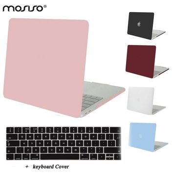 MOSISO for Macbook Pro 13 Touch Bar 2016 2017 Newest Clear Matte Hard Cover Case for Mac book Pro15 Touch Pad A1707 Laptop Shell