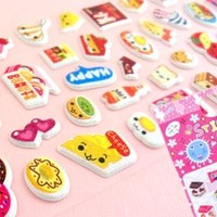 Buy Kawaii Happy Food Shimmer Stickers at Tofu Cute
