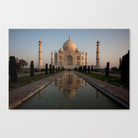 Taj Mahal Stretched Canvas by Elena Martinello