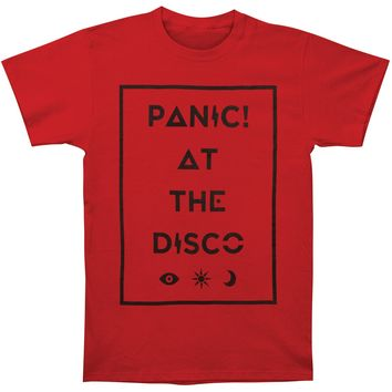 Panic! At The Disco Men's  Box Icons Tee Slim Fit T-shirt Cardinal