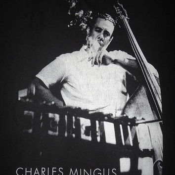 SALE Christmas Xmas Vintage CHARLES MINGUS Cafe Bohemia Nyc 1990 Photo By Bop Parent photographer T Shirt Jazz