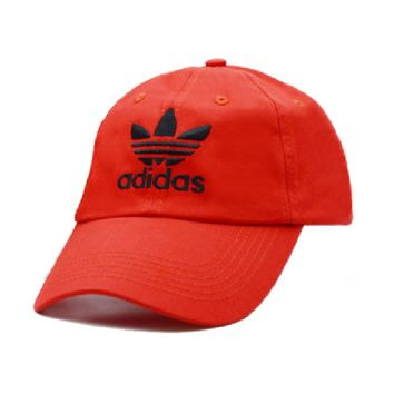 Red Adidas Embroidered 100% Cotton Adjustable cotton cap