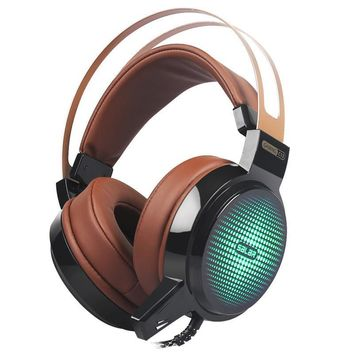 Wired Gaming Headset Deep Bass Game Earphone Computer Headphones with Microphone Led Light FREE SHIPPING