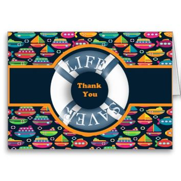 Cute and Colorful Nautical Thank You Card