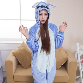 Cartoons Couple Home Lovely Blue Pink Sleepwear [6819625287]