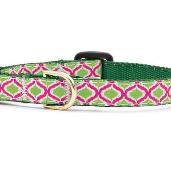 Up Country Green Kismet Cat Collar