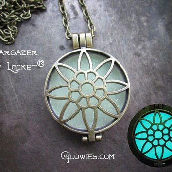 Stargazer Frozen Glow Locket Necklace