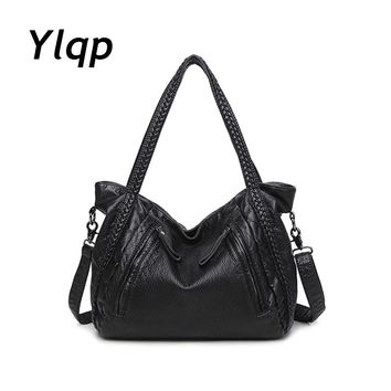 Soft Leather Handbags Big Women Bag Zipper Ladies Shoulder Bag Girl Hobos Bags New Arrivals bolsa feminina 2017 Fashion Tote