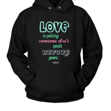 Olaf Frozen Quotes About Love Hoodie Two Sided