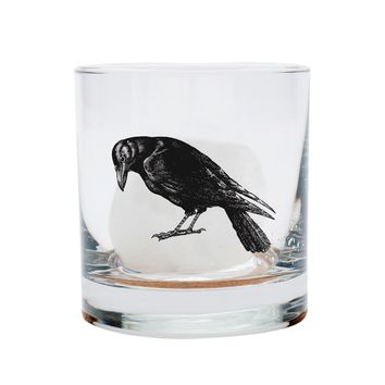 'Crow Rocks' Old-Fashioned Glass