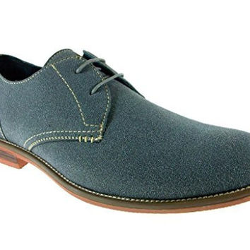 Ferro Aldo Men's 139002- Suedette Sole Stiched Oxfords