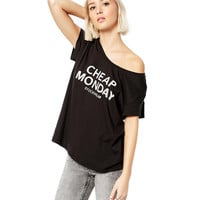 Black Cheap Monday Print T-Shirt