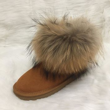 EU34-42 Australian Style Ugs Women Snow Boots Faux Fur Winter Leather High-Quality Ankle Boots Brand IVG