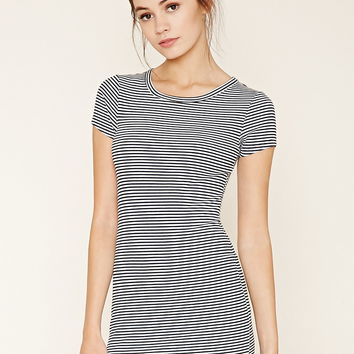 Stripe Bodycon Mini Dress | Forever 21 - 2000176520