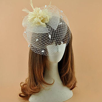 Women Veil Fascinator Cocktail Hat Tea Party Church Headwear Bridal Headpiece