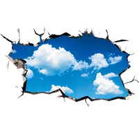 Sky Clouds 3D Ceiling Stickers PVC Material Wall Stickers DIY Floor Decals for Kids Rooms Living Room Decoration