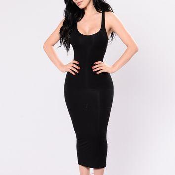 Your Needs Met Dress - Black