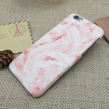 pink marble stone iphone 5se 5s 6 6s plus case cover nice gift box 275  number 1
