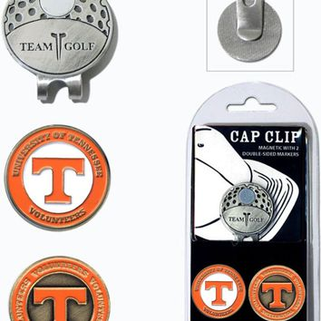 NCAA Tennessee Volunteers Hat Clip & 2 Magnetic Golf Ball Markers