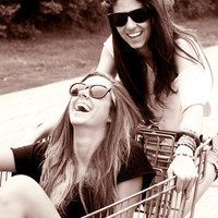 best freinds forever, best friend, bff, black and ... - inspiring picture on Favim.com