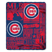 Chicago Cubs MLB Light Weight Fleece Blanket (Strength Series) (50inx60in)