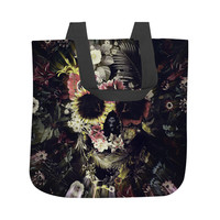 Warped Garden Skull Tote Bag