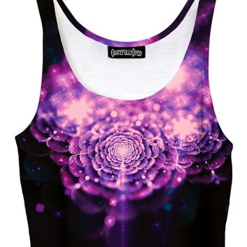 Flower Fae Enchanted Galaxy Crop Top