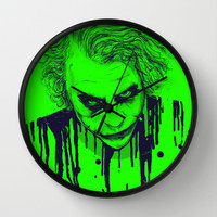 The Joker Wall Clock by Nicebleed