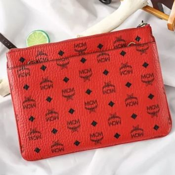 MCM counter fashion trend ladies logo print clutch wallet F0722-1 red