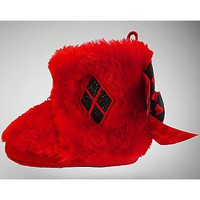 Furry Harley Quinn Baby Boots - Spencer's