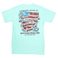 Southern Belle Pledge Tee Shirt in Island Reef by Southern Fried Cotton